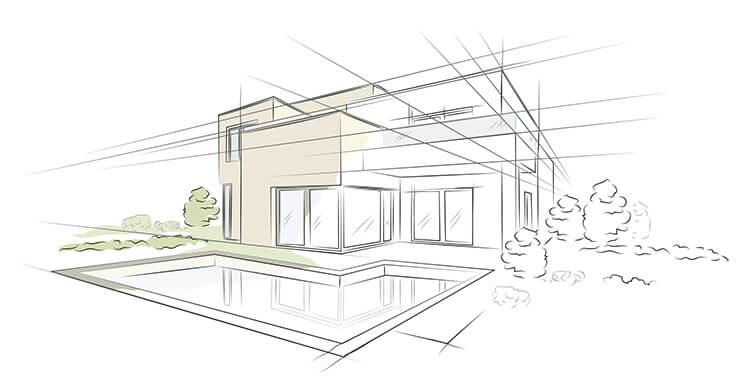 Immobilien Zeichnung