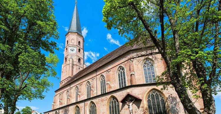 Gotische Kirche in Dingolfing