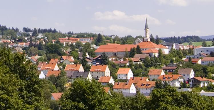 Grafenau Stadt Panorama