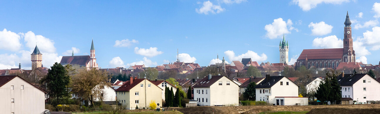 Straubing Stadt Panorama